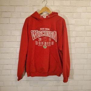 WI Badgers 2011 Rose Bowl hooded sweatshirt